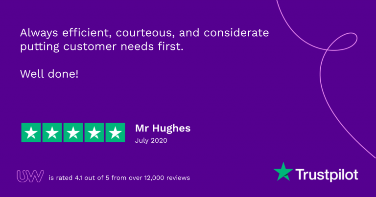 UW 5 star Trustpilot review